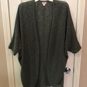 Mossimo women's olive cocoon cardigan sweater L
